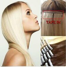 """AAA Tape In 20Pcs 16""""-24"""" Skin Weft 100% Remy Human Hair Extensions PU Hair"""