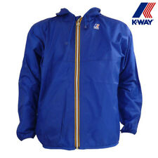 K-Way Mens Claude Klassic 100% Waterproof Jacket in Royal Blue NWT