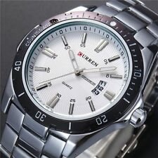 Fashion Men's watch Stainles Steel Casual Analog Quartz Wrist Watch Waterproof