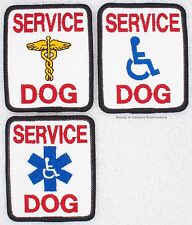 SERVICE DOG MEDICAL PATCH 2.5X3 in Danny & LuAnns Embroidery assistance support