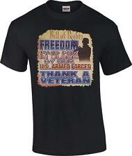 Freedom Paid in Blood by Our US Armed Forces Thank A Veteran Military T-Shirt