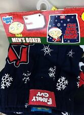 Mens boxer Family Guy, Knit Boxer, 100% cotton, Sm, L, XL blue I've been Naughty