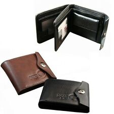 2015 New Mens Wallet Leather Bifold ID Cards Holder Coin Pocket Slim Purse Bag