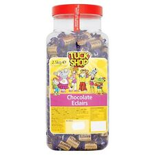 TUCK SHOP CHOCOLATE ECLAIRS 2.5KG JAR OF SWEETS CHEWS CONGRATULATIONS GIFT