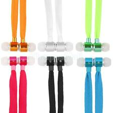 Handfree Shoelace bass Stereo Headphone Earphone Headset with Mic for Cellphone