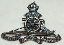 WWII Royal Canadian Artillery Buttonhole Badge
