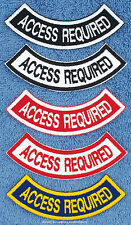 ACCESS REQUIRED ROCKER PATCH service dog Danny & LuAnns Embroidery