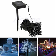 50-200 LED Outdoor Solar Powered String Light Garden Wedding Party Fairy Lamp