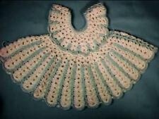 Blue and White Crochet Doll Dress Cute for a Doll or Small Teddy Bear