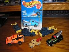 RARE LOT of 7 Vintage Majorette Hot Wheels Chevy Ford Transit Wrecker Tow Trucks