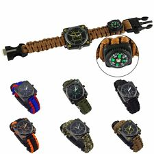 Mens Sports Bracelet Watch Fashion Multifuctional Compass Outdoor Survival