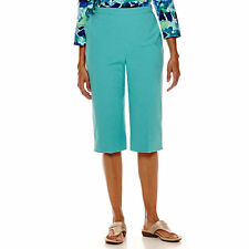 Alfred Dunner Sheeting Capris Size 8 Msrp $36.00 Turquoise New