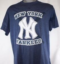 NEW Mens MAJESTIC New York NY YANKEES Stitched Patch Style MLB Baseball T-Shirt