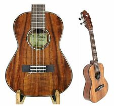 Alulu Solid Authentic Hawaiian Koa Tenor Ukulele Hard Case BU640-BU644