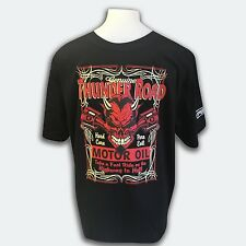 Mens Thunder Road T-Shirt Hot Rod Car Cars Chop Shop Route 66 Highway to Hell