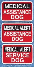 1 MEDICAL ALERT ASSISTANCE SERVICE DOG PATCH 2.5X4 IN Danny & LuAnns Embroidery