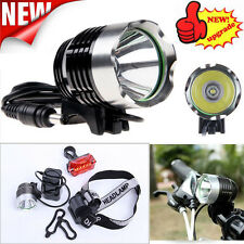 5000LM XM-L T6 LED Bicycle Bike Light Head Light Headlamp Rechargeable Lamps Set