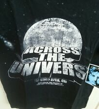 NWT Beatles ACROSS THE UNIVERSE American Tour Concert Tee Black ENGLISH HEROES