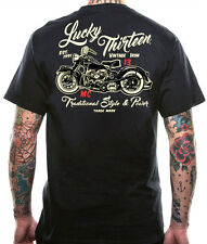 "NEW LUCKY 13 "" VINTAGE IRON "" T SHIRT AMERICAN ROCKABILLY PUNK BIKER MENS TOUGH"