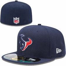 HOUSTON TEXANS NFL AUTHENTIC ON FIELD PLAYERS NEW ERA 59FIFTY FITTED HAT/CAP NWT