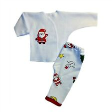 Adorable Santa Claus Christmas Pants and Shirt Outfit - 4 Preemie Newborn Sizes
