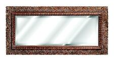Ornate Floral Carved Design Wall Mirror ~ Available in 25 Colors