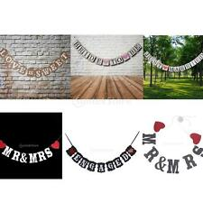 MR&MRS/JUST MARRIED String Banner Hanging Bunting Flag Wedding Party Decor