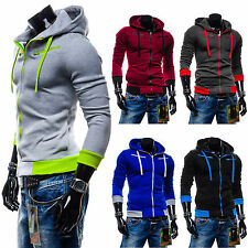 New Plain Mens American Zip Up Hoody Jacket Sweatshirt Hooded Zipper Tops Coat