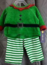 CHRISTMAS ELF boy Infant 2 piece outfit 3 months Cherokee brand