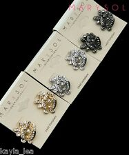 *3 Colors* Rhinestone Butterfly Post Earrings #2649