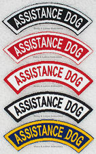 1 ASSISTANCE DOG ROCKER PATCH RR Danny & LuAnns Embroidery service support