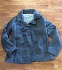 Girl's Old Navy Gray Wool Blend Lined  Pea Coat Jacket XL 14 Winter EUC