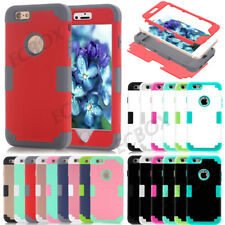 Rugged Hybrid Soft Silicone Hard PC Shockproof Glossy Matte Case Skin For iPhone