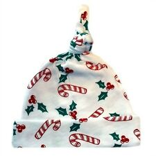 Christmas Candy Cane and Holly Baby Hat 7 Sizes Preemie, Newborn & Toddlers