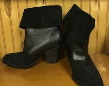 RACHAEL ROY BLACK LEATHER MID CALF BOOTS SZ 7 $160