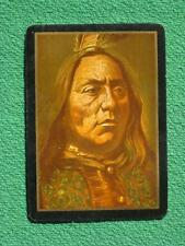 Native American Indian Chief Sitting Bull Art Swap Card Vintage Original 1899 !