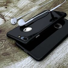 Jet Black Ultra Thin 360° Full Body Shockproof Case Cover for iPhone 6 6S 7 Plus