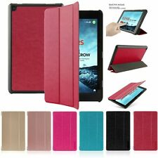 Folio Slim Stand Leather Case Cover for Amazon Kindle Fire HD 7 8 10 2015 2016
