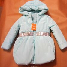 Gymboree Snowflake Fun Mint Green Puffer Coat XS(4) NWT