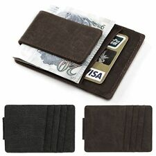 Men Business Casual Synthetic Leather Credit Card ID Holder Wallet