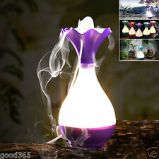 Vase LED Night Ultrasonic Home Aroma Humidifier Air Diffuser Purifier Atomizer