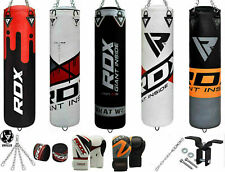 RDX UnFilled 8PC Punching Bag Set Boxing Gloves,Chain,Ceiling Hook,Hand Wraps CA
