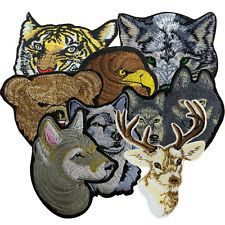 Fashion Tiger Wolf Eagle Leopard Deer Animals Embroidery Patch Sew On Clothes