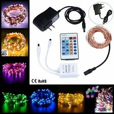 50/100LED String Lights Waterproof Copper Wire Lights With Remote Control 12V