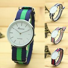Fashion  Lady Nylon Bracelet Bangle Strap Dial Analog Quartz Women's Wrist Watch
