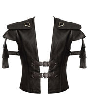 Punk Rave Mens Vest Waistcoat Brown Faux Leather Goth Steampunk Victorian Armour