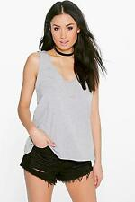 Boohoo Womens Lia V Front and Back Vest