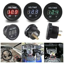 12V-24V Motorcycle LED Digital Display Voltmeter Socket Waterproof Meter ED