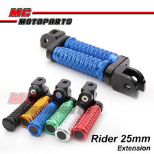"M-Grip CNC 1"" Adjustable Riser Front Foot Pegs for Yamaha BT1100 Bulldog"