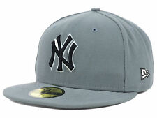 NEW YORK YANKEES MLB AUTHENTIC NEW ERA 59FIFTY FITTED GRAY/BLK/WHITE HAT/CAP NWT